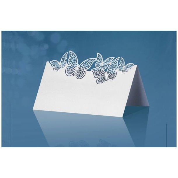 Bordkort små sommerfugle stående 10stk