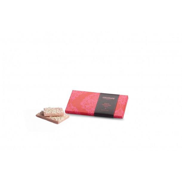 Hvid chokolade med hindbær Cocoture Block 29%