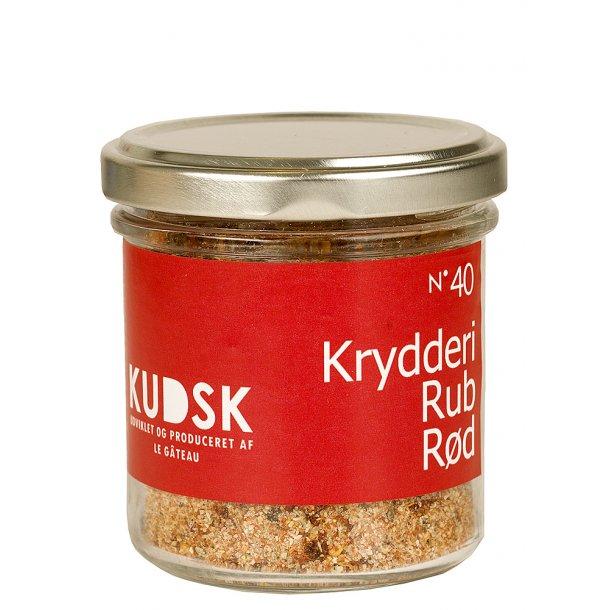 KUDSK Krydderi Rubs rød