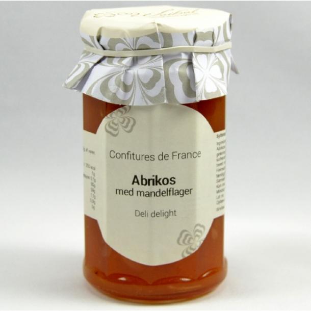 Abrikos med mandelflager marmelade