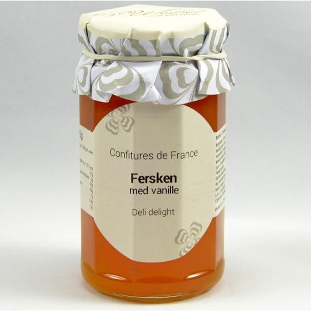 Fersken med vanille marmelade