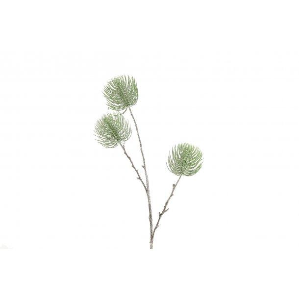 Deko gren grøn med glimmer