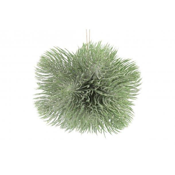 Deko kugle grøn med glimmer