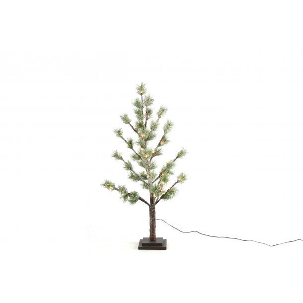 Juletræ i potte med led lys 90 cm