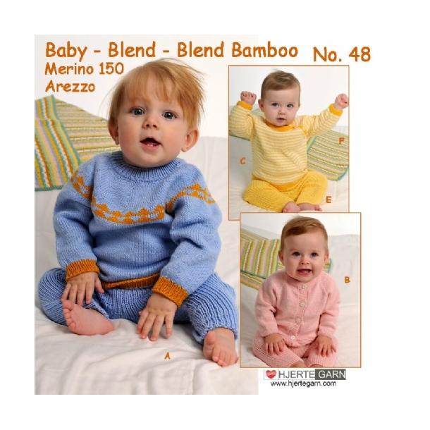 Hjertegarn strikkeopskrifter baby 48