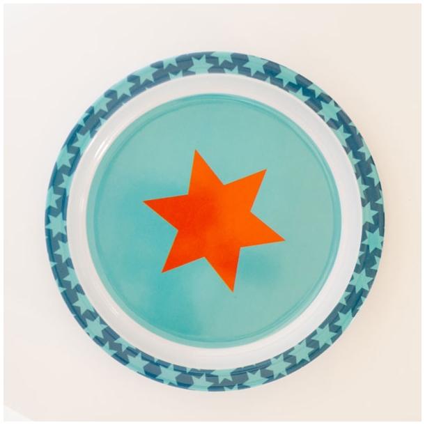 Flad tallerken m. stjerner