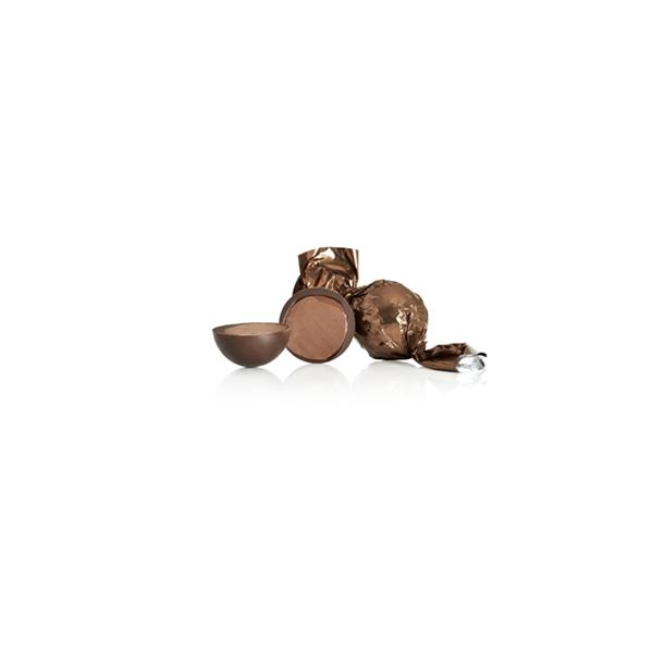 Lysebrun chokoladekugle med havsalt og karamel