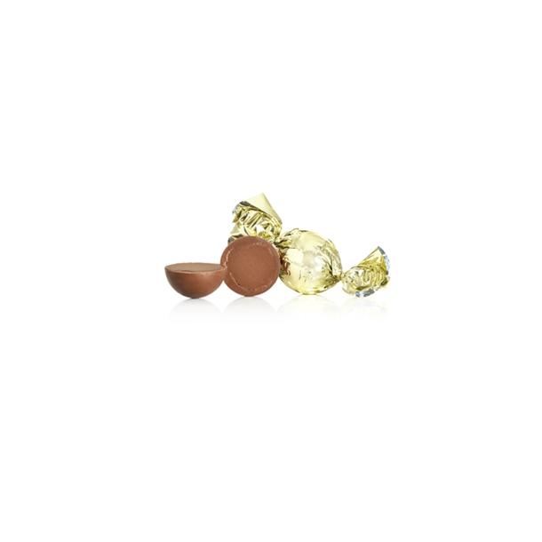 Guld chokoladekugle nougattrøfler med lys chokolade og karamel