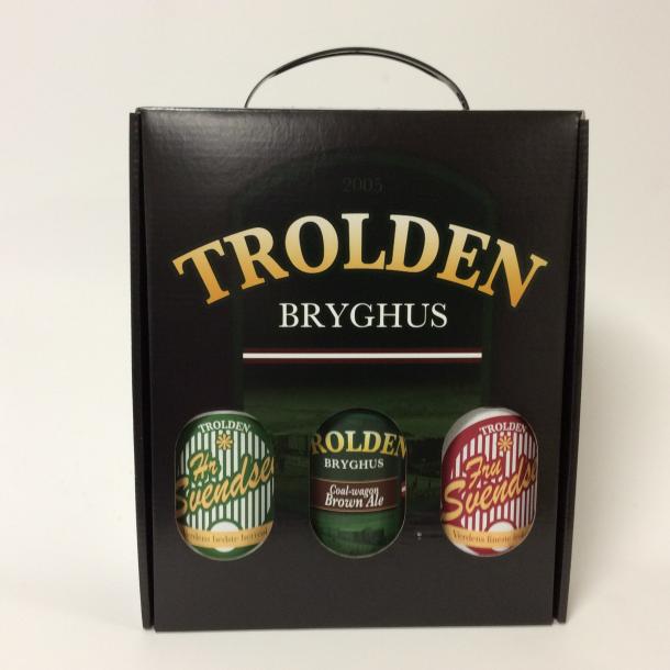 Gaveæske med 3 øl fra Trolden Bryghus