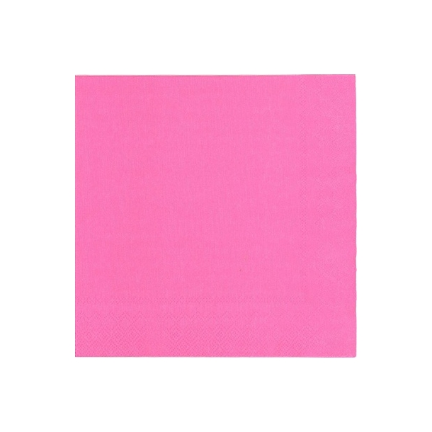 IHR Uni Pink middagsservietter 40x40cm. 20 stk.