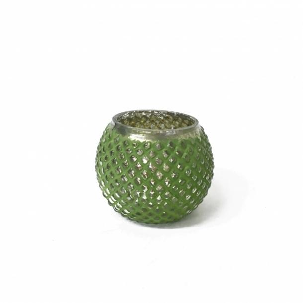 Grøn fyrfadsstage med knopper