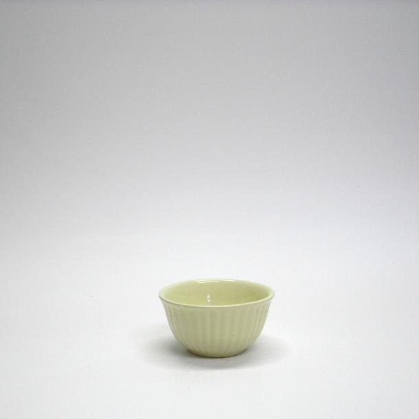 Mini skål med riller pistacie