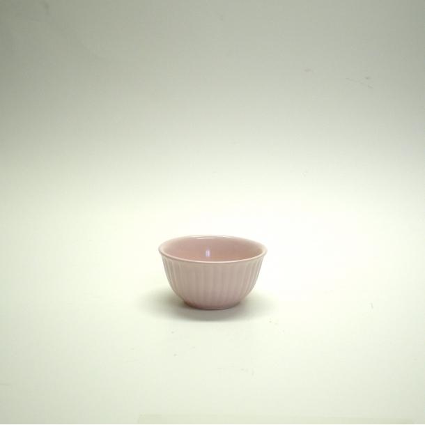 Mini skål med riller lyserød