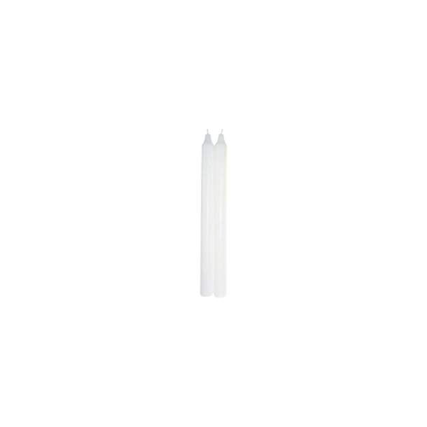 Kronelys 30 cm Hvid