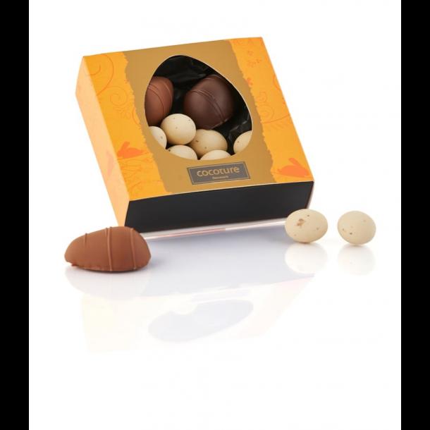 Cocoture æske med marcipanæg og dragéæg