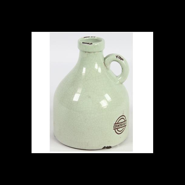 Keramik vase grøn