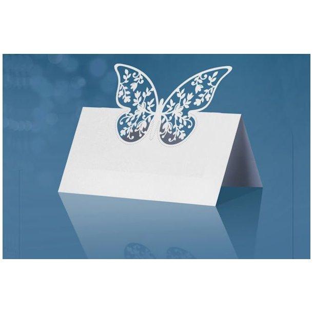 Bordkort sommerfugl stående 10stk