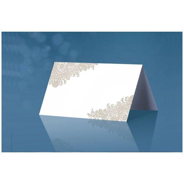 Bordkort stående hvid 25stk