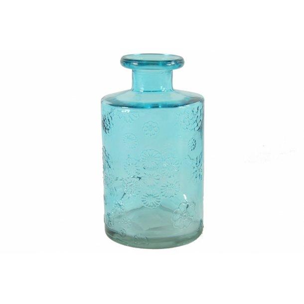 Glas vase lysblå