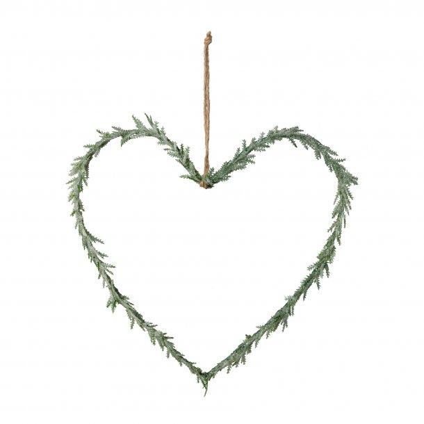 Hjerte ophæng frost 25cm