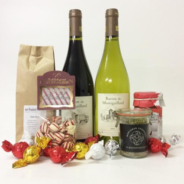 Julekurv med franske vine