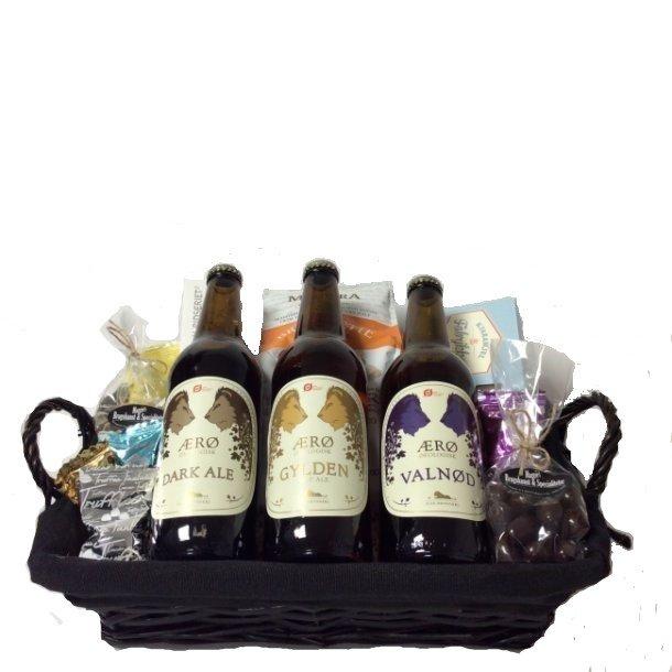 Gavekurv med Ærø økologisk øl