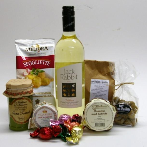 Gavekurv med hvidvin