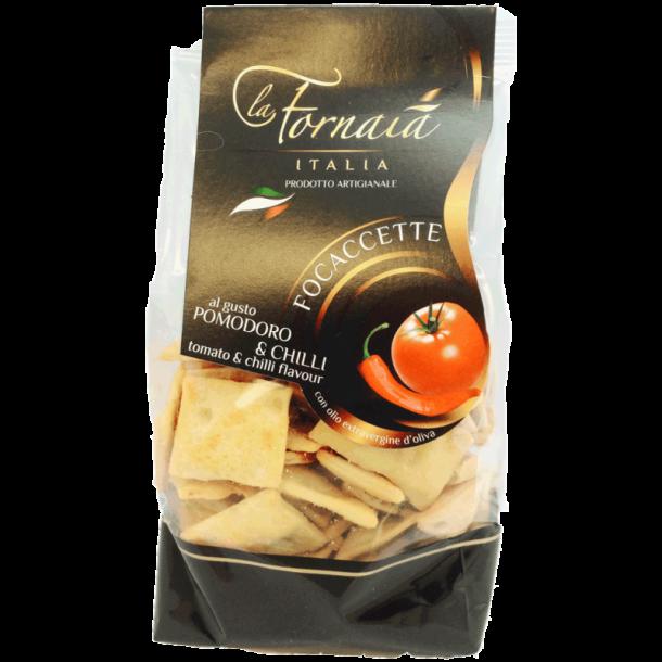 La Fornaia - Focaccette med tomat og chili