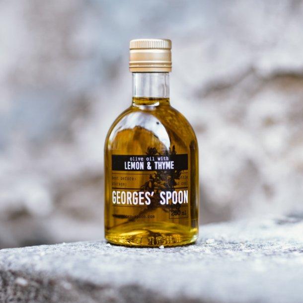 250ml. Olivenolie med citron og timian Georges´ Spoon